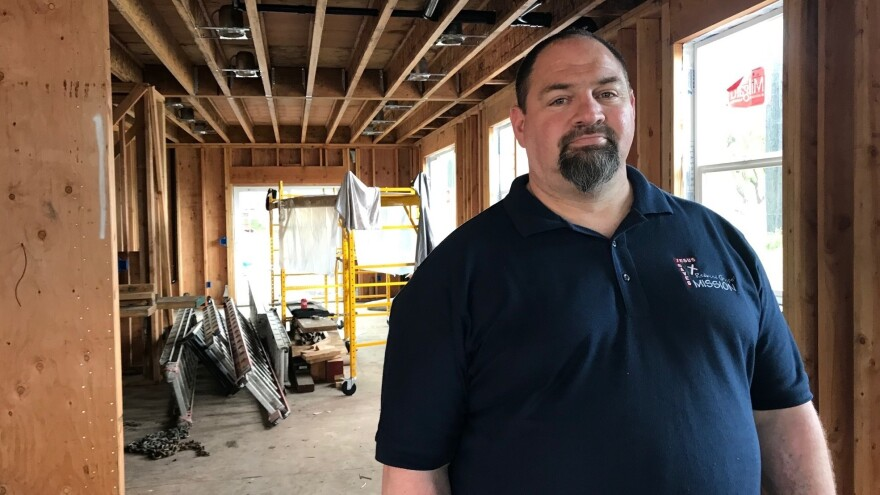 Chris Keys inside his Santa Rosa, Calif., home that is still under construction. Keys says his family may run out of the insurance benefit that covers living expenses before their new home is ready to move into.
