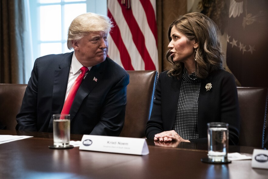 "South Dakota Republican Gov. Kristi Noem, an ally of President Trump, says she will continue to take a ""targeted"" approach and not issue a statewide stay-at-home order. City leaders in the state, including the mayor of Sioux Falls, where there has been an outbreak at a meat-processing plant, are begging the state for tighter restrictions."