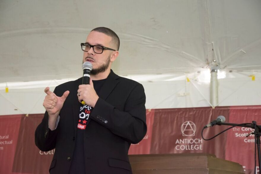 Shaun King speaks at Antioch College's Freedom to Vote rally
