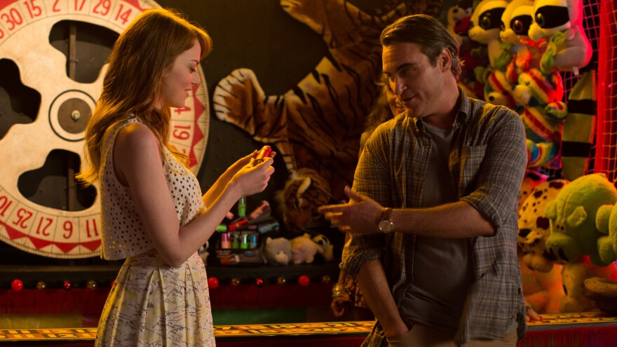 <em>Irrational Man </em>is a Hitchcock-style mystery wrapped in a Woody Allen romance.