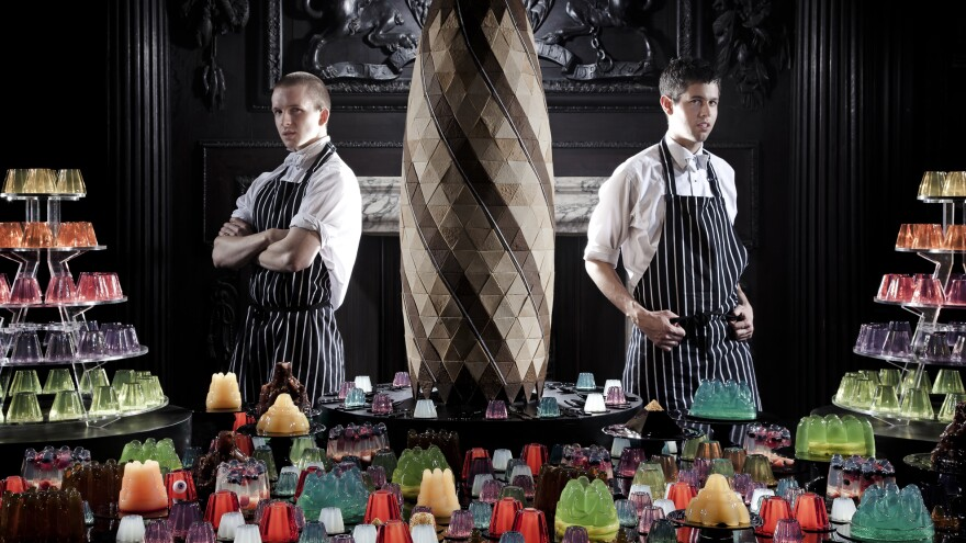 Sam Bompas (left) and Harry Parr made names for themselves with spectacular gelatin creations.