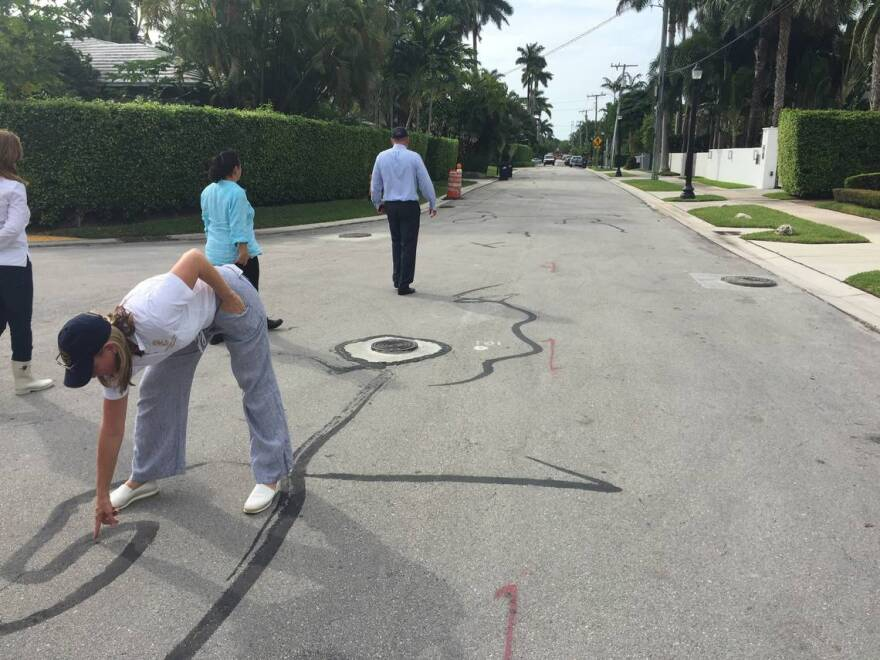 Premature cracking on a recently installed road on De Lido Island in Miami Beach