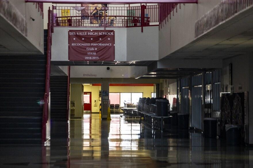 Del Valley High School, near Austin, closed during the coronavirus pandemic.