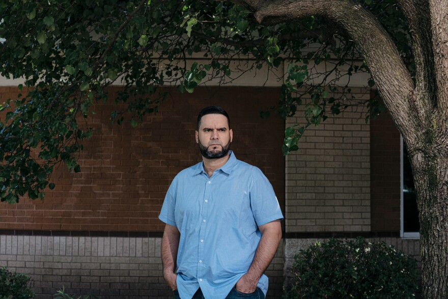 Angel Salva suffers from chronic pain from his neck to his lower back. It forced him out of the Air Force after a dozen years in the service. He has reentered the workforce as an IT specialist for a defense contractor.