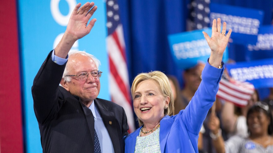 After months of bitter campaigning, Sanders endorsed Hillary Clinton in Portsmouth, N.H., on July 12, 2016.