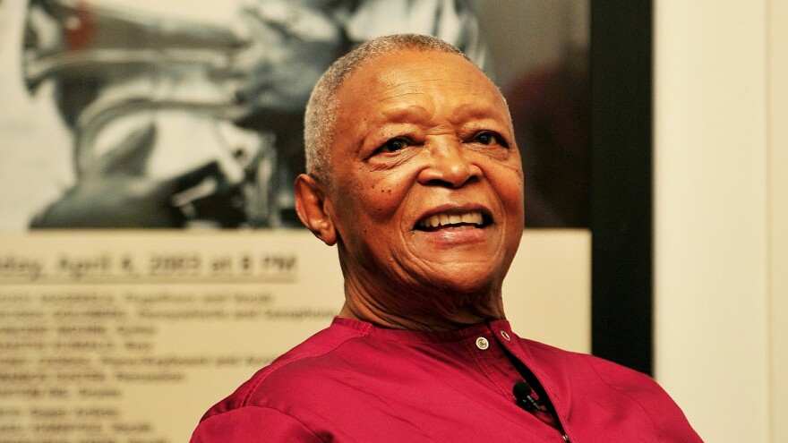 Legendary trumpeter and anti-apartheid activist Hugh Masekela, who died this week, photographed during an interview on October 27, 2016 in Johannesburg, South Africa.