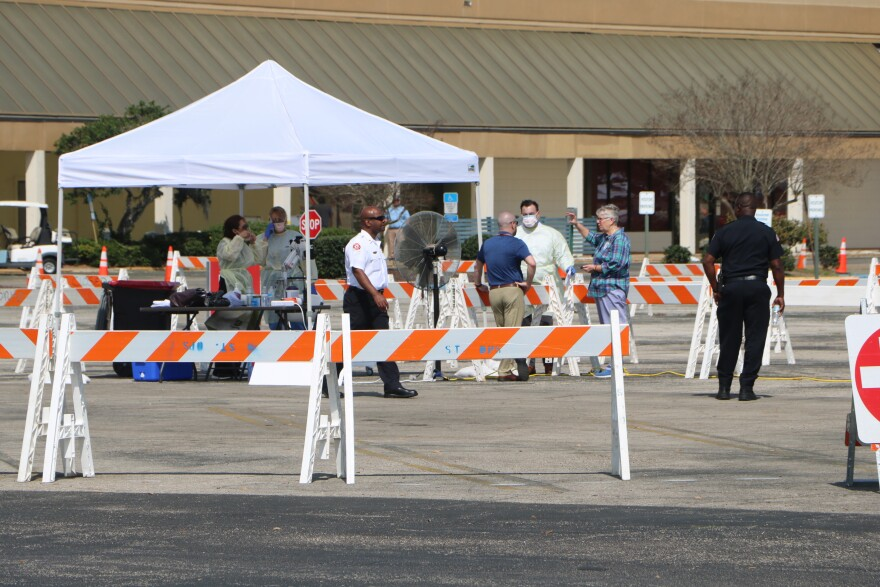 Tallahassee Memorial HealthCare has set up a drive-through sample collection site at Northwood Centre to test for COVID-19, or coronavirus.