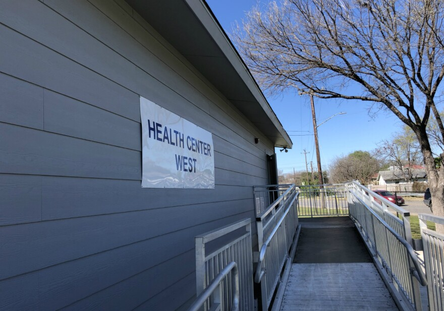 University Health System's Health Center West is located in a portable building on the Tafolla Middle School campus.