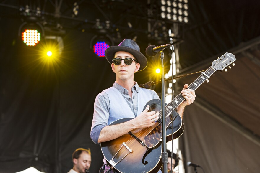 Pokey LaFarge seen during day two of Forecastle Music Festival at Waterfront Park on Saturday, July 16, 2016, in Louisville, Ky. (Amy Harris/AP)
