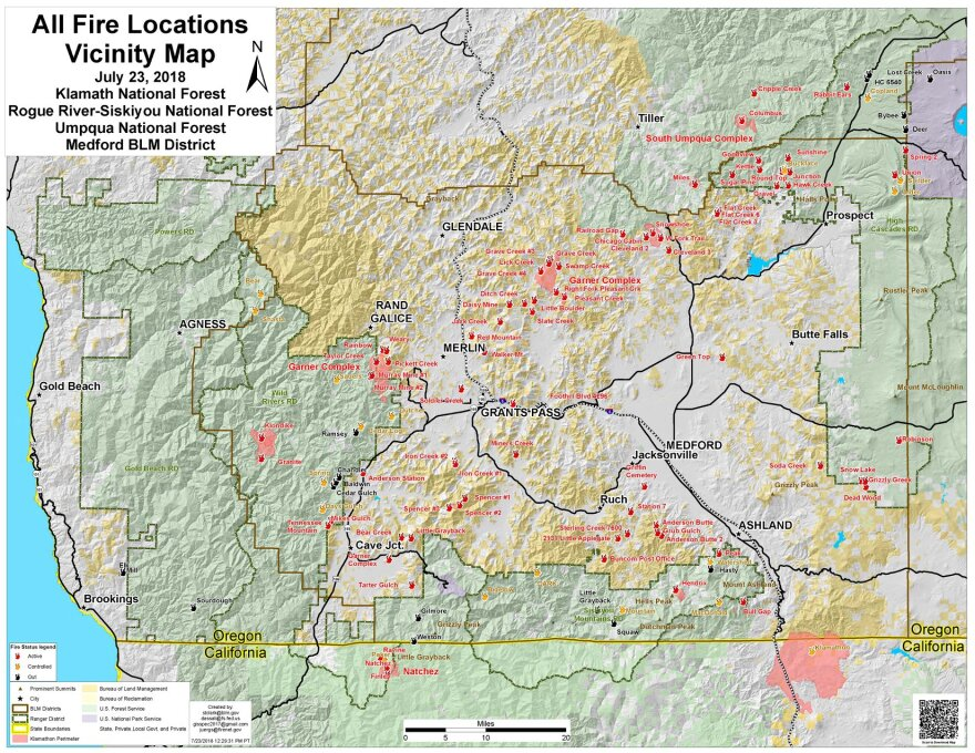 Worth A Thousand Words Or More Southern Oregon Fire Map