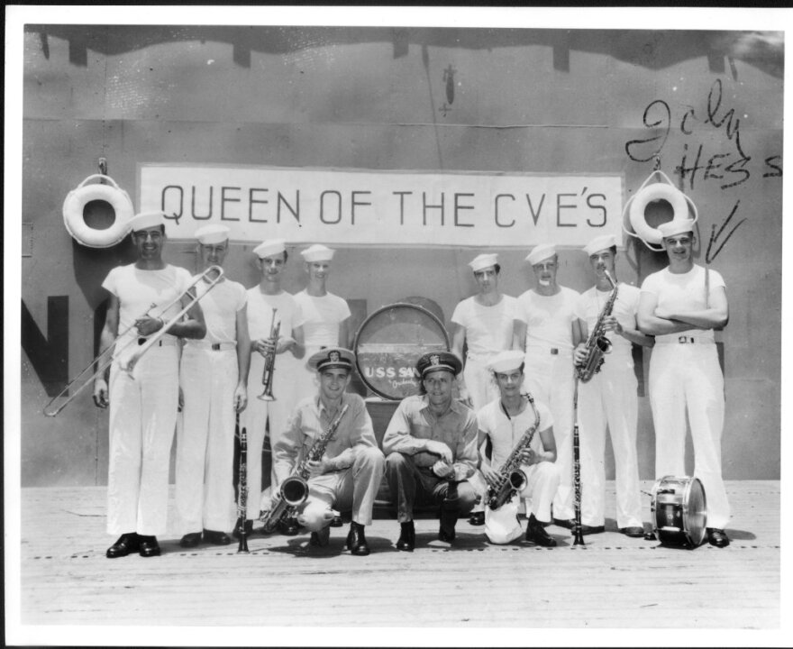 Tito Puente with the Navy Group on the USS Santee