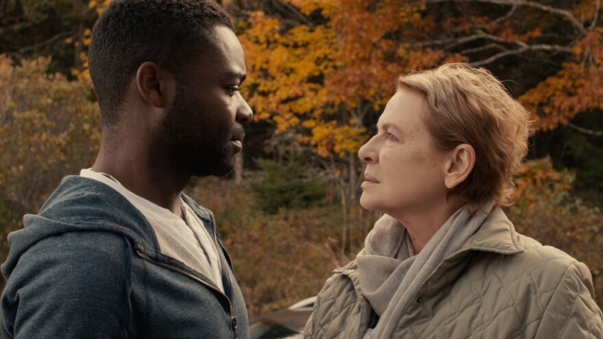 Sherwin (David Oyelowo) and Lucinda (Dianne Wiest) in <em>Five Nights In Maine.</em>