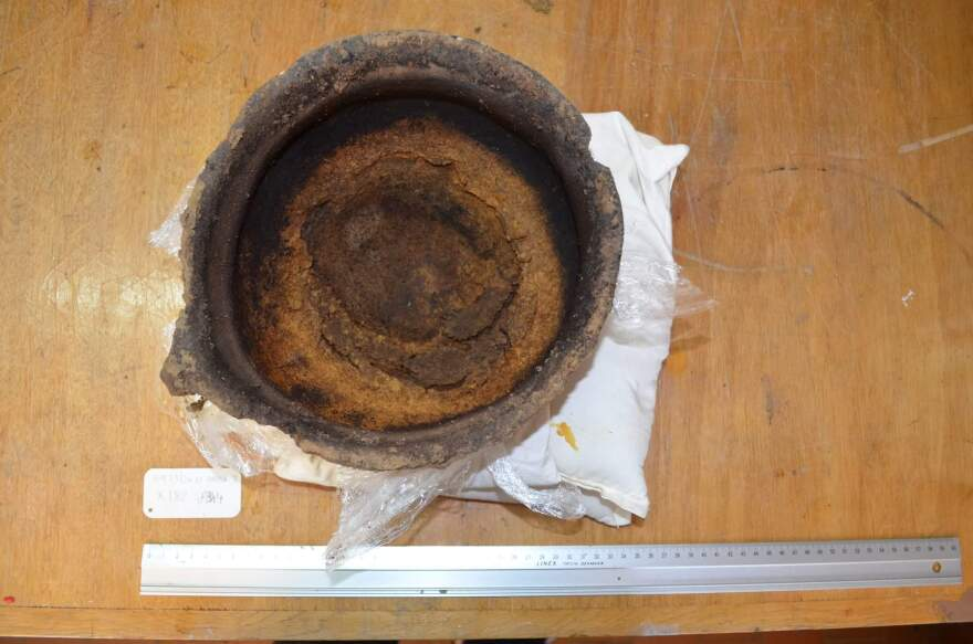 This 3,000-year-old pot was found with burnt cheese residue still inside.