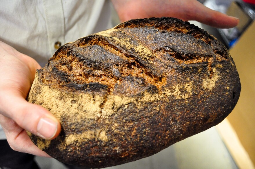 The D.C. bakery's loaves emerge from the oven in dark hues to match their intensely wheat-y flavors.