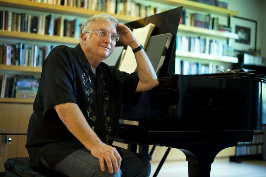 In this July 27, 2017 photo, singer-songwriter Randy Newman poses for a portrait at his home in Pacific Palisades, California. (Jordan Strauss/Invision/AP)