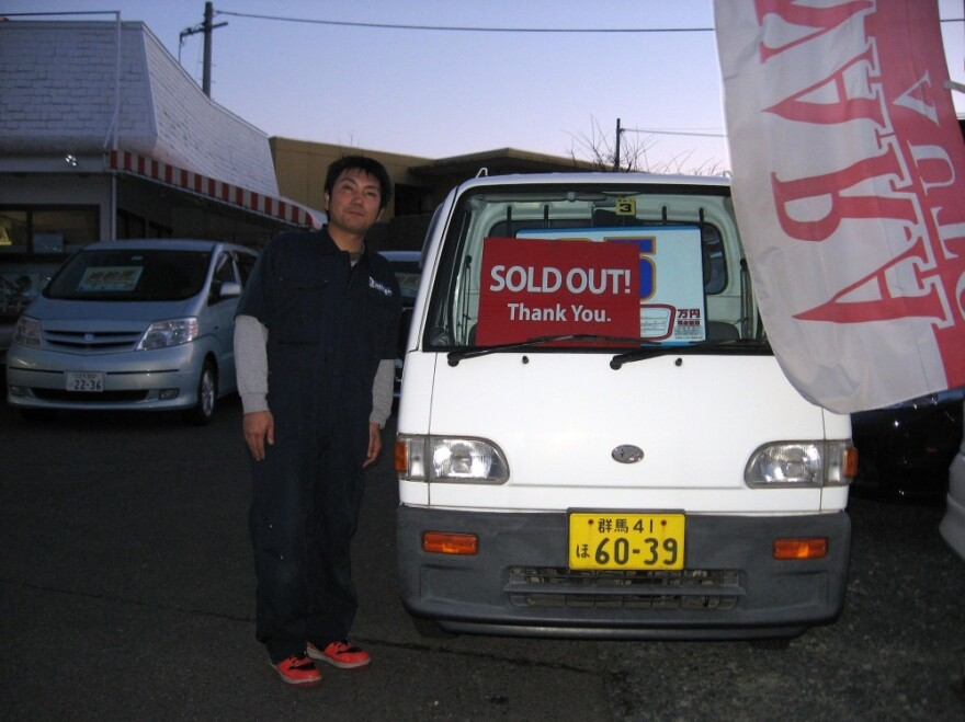 Naoki  Sugawara, owner of Sugawara Autos in Morioka, can't find enough lightweight trucks  to sell to fisherman who lost their vehicles to the tsunami.