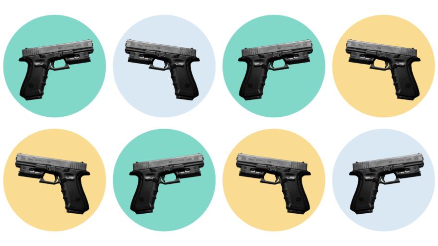 Handgun illustration, guns, gun violence