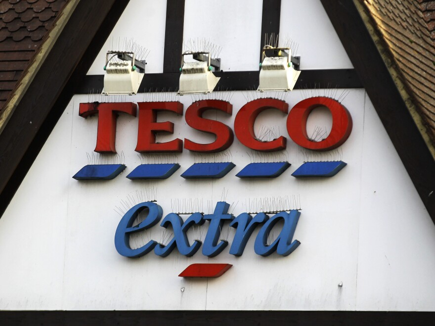 A Tesco supermarket sign in London. The chain acknowledged that its low-cost beef lasagna had in fact been 60 percent horse.