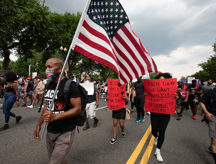 Thousands of people took the streets to march in Washington, D.C., on Saturday.