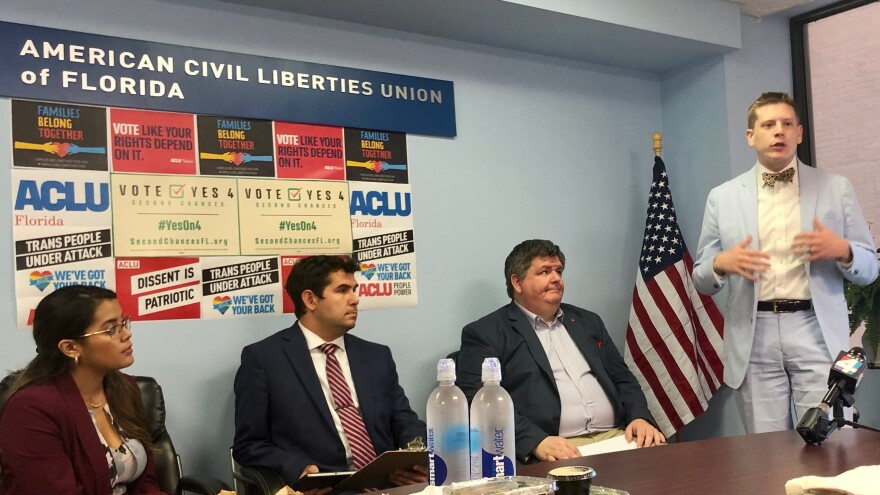 """Micah Kubic (right), who heads ACLU Florida, said this was by far """"the worst session in ten years"""" for civil rights and civil liberties."""
