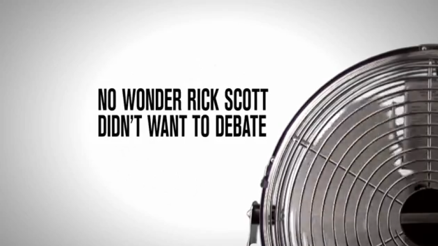The Florida Democratic Party has released an ad reminding voters of Wednesday's fan episode.