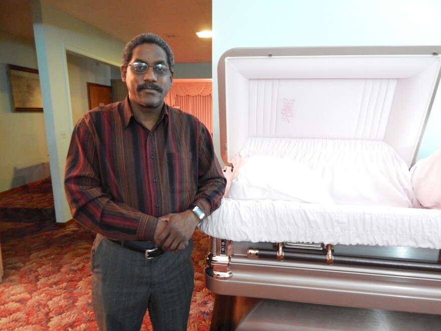 Dwayne Bickham has worked at Bowman and Young Funeral Chapel since he was 17, in 1979.