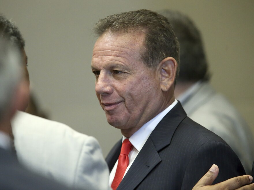 Former Broward County Sheriff Scott Israel, seen on Monday. The state Senate voted Wednesday to confirm his ouster by Gov. Ron DeSantis over the performance of his department in the 2018 high school shootings in Parkland.