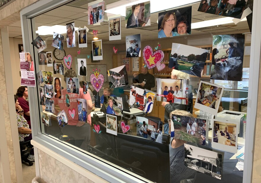 Staff members posted photos and other memorabilia in the halls — reminders of happier times — in the weeks before its closure.