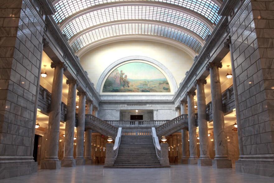 Interior photo of Utah State Capitol building.