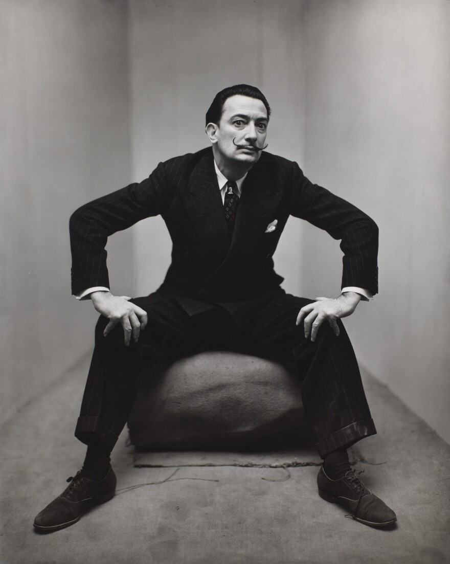 Penn made portraits of celebrities such as Truman Capote, Leontyne Price and Salvador Dali (above) in 1947.