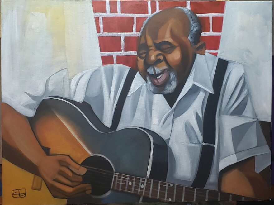 Cbabi Bayoc's portrait of blues great Henry Townsend, who called St. Louis home for many years. [7/15/20]