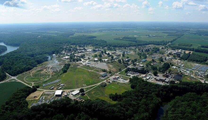 The Army spent $300 million to upgrade Camp Atterbury and the Muscatatuck Urban Training Center — seen here in this aerial photo from 2012 — for Indiana's National Guard to use to prepare for the wars and Iraq and Afghanistan. But now that troops are coming home, the Guard is looking for new ways to keep the base relevant.