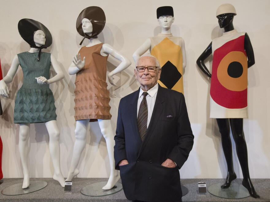 Pierre Cardin poses at the inauguration of the Pierre Cardin Museum in Paris in 2014.