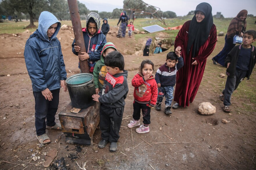 Nearly one million people have been displaced since December in Idlib as a result of the military campaign against the western countryside and the advancement of the Syrian regime.