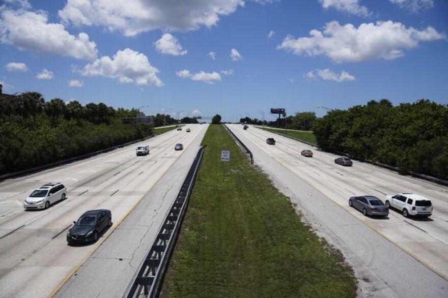 Cars drive on Interstate 275 in St. Petersburg in June 2020.