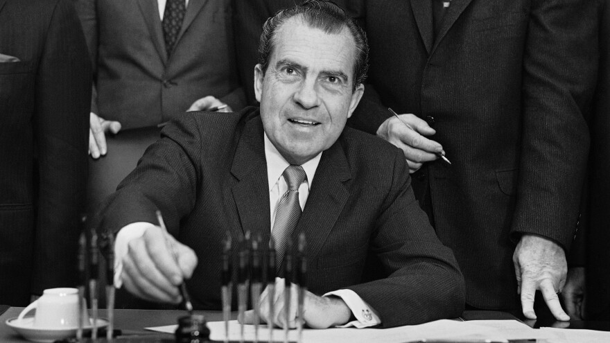 President Nixon signed an executive order on Jan. 23, 1969 creating his new Urban Affairs Council.