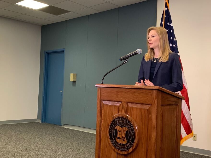 Missouri Auditor Nicole Galloway announces her office will audit the government of St. Louis County , the St. Louis Economic Development Partnership and the St. Louis County Port Authority. May 15, 2019