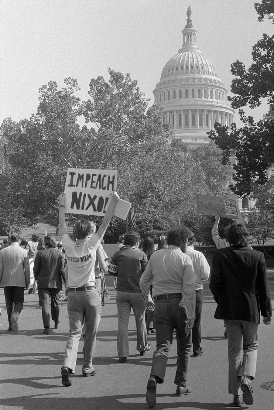 Protesters at Nixon's second inauguration