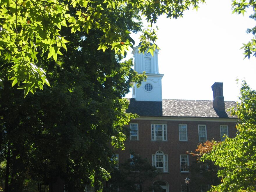A picture of Manasseh Cutler Hall at Ohio University in Athens, Ohio.