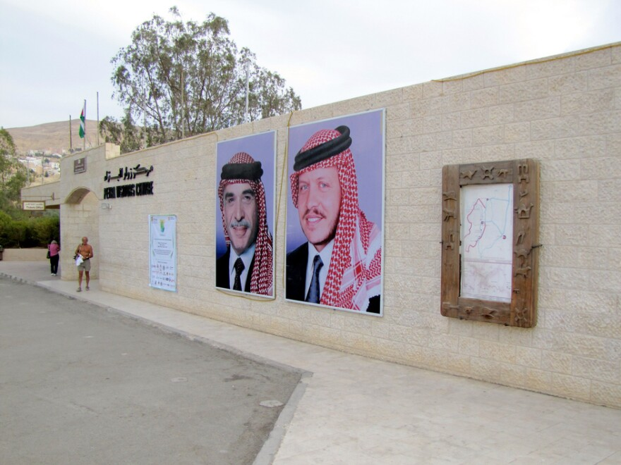 Jordan's King Abdullah, in the poster on the right, is shown next to his late father, King Hussein. Posters such as these reinforce the idea of continuity in a time of change.