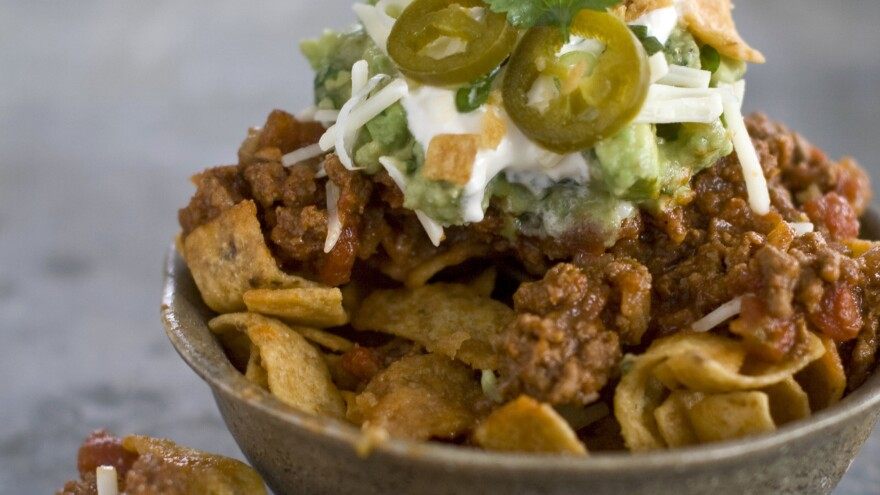 """Not the exact taco bowl Donald Trump ate (and technically this is a """"walking taco""""), but you get the idea."""