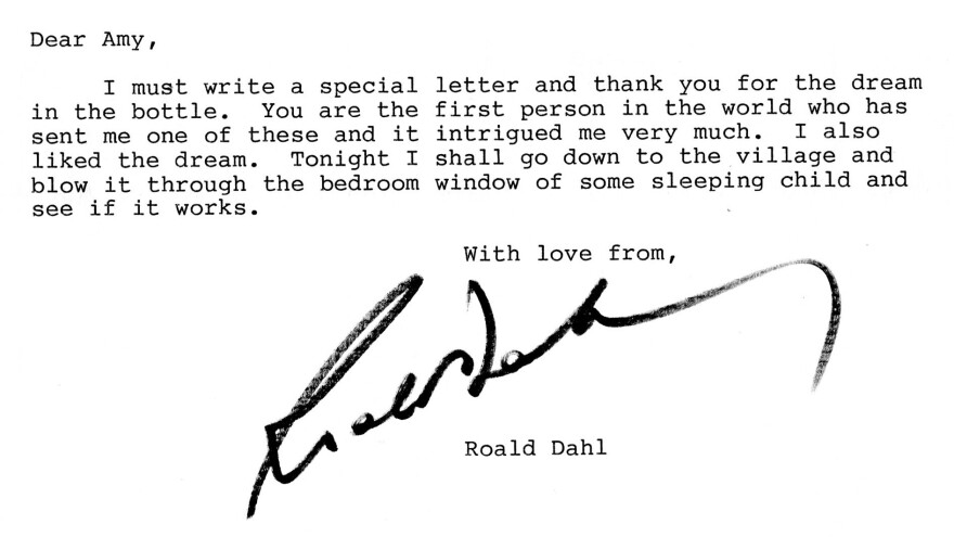 Author of <em>James and the Giant Peach </em>and <em>Matilda</em>, Roald Dahl showed his sense of humor and whimsy in his letter to a young Amy Corcoran.
