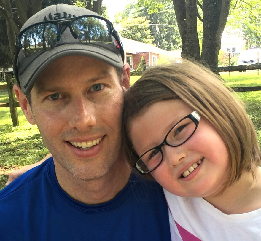 David Whitcomb, pictured with his daughter, Ella, says he bought into VW's clean diesel claim. As a former promoter of the car brand and owner of three VWs, he says there should be some compensation to make up for the company's deceit.