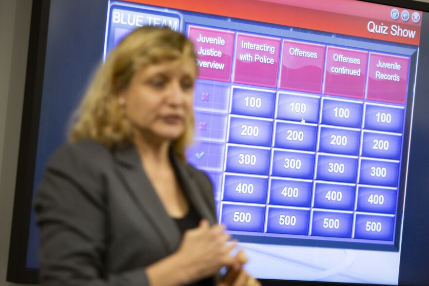 Juvenile Justice Jeopardy aims to educate youth on law enforcement interactions.
