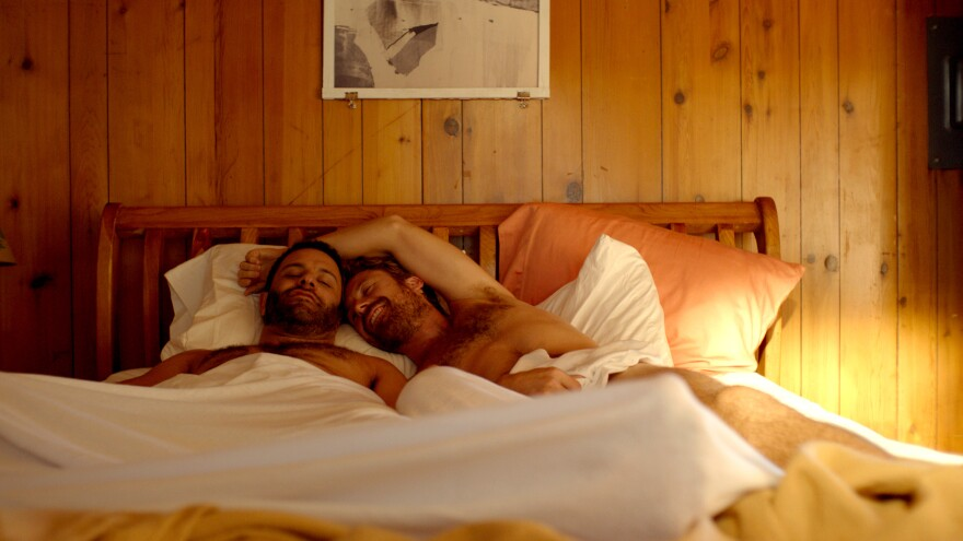 Alex (Aaron Costa Ganis) and Dean (Lucas Near-Verbrugghe) in <em>Lazy Eye.</em>