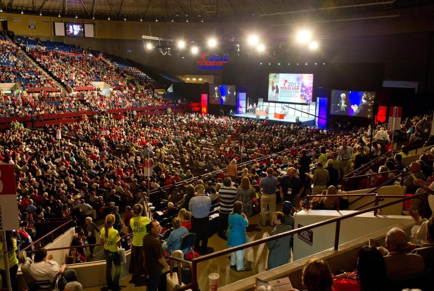 The Texas Republican Convention in Fort Worth in 2012.
