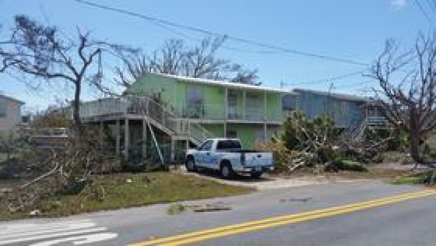 Mark Ebenhoch's home emerged OK after the eye of Hurricane Irma hit Cudjoe Key 10 miles away on Sept. 10, 2017