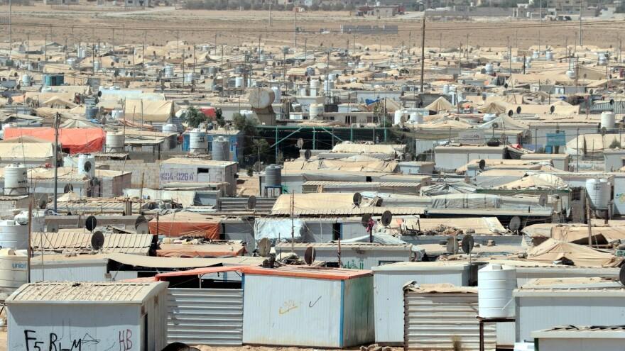 The UN-run Zaatari camp for Syrian refugees in Jordan.