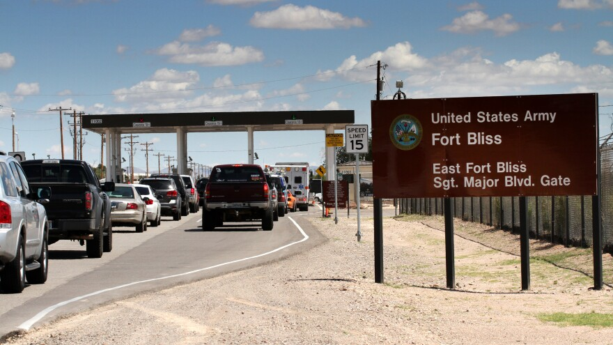 A U.S. official told NPR that a camp for families would be housed at Fort Bliss in El Paso, Texas.