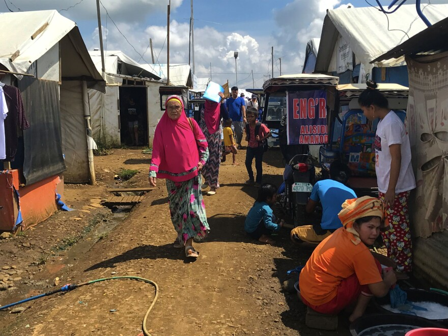 Sarimanok Camp I, one of the government-erected tent cities in Marawi, shelters some 90 families. Violent clashes in Marawi between the Philippine military and ISIS-aligned militants displaced thousands of residents. Most of the families in the shelter have stayed for more than a year.